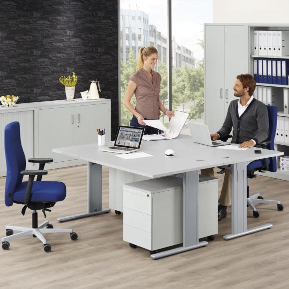 Schreibtische COMFORT M BASE L - Höhe 640-840 mm