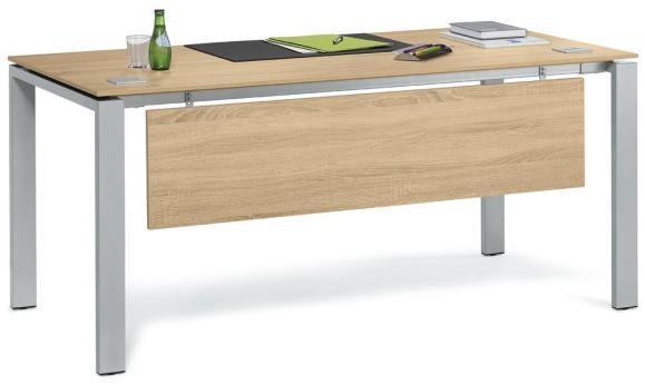 Schreibtisch 4-Fuß Basic EVO Wildeiche | 1600 mm