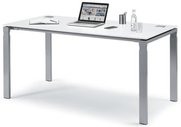 Schreibtisch 4-Fuß Basic EVO Weiß | 1600 mm