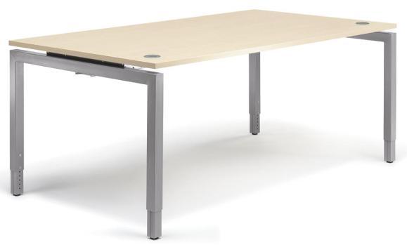 Schreibtisch 4-Fuß Comfort MULTI M Ahorndekor | 1800 mm