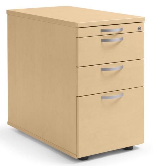 Standcontainer Multi M pro Buchedekor | 1 + 2 Schübe + 1 Hängeregistratur