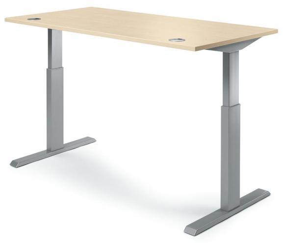 Sitz-/Stehschreibtische BASIC MULTI M pro Ahorndekor | 1800 mm