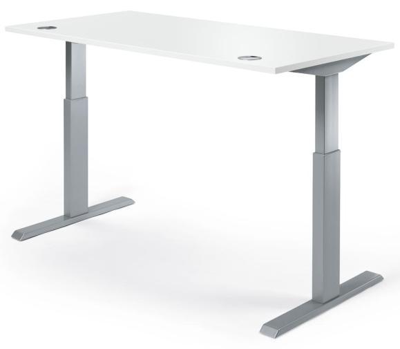 Sitz-/Stehschreibtische BASIC MULTI M pro Weiß | 1800 mm