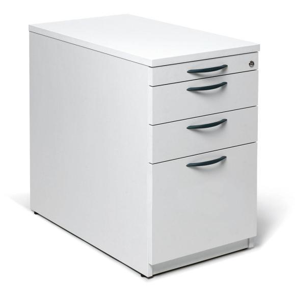 Standcontainer MULTI M Weiß | 1 + 2 Schübe + Hängeregistratur Stück