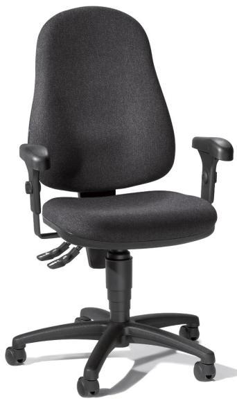Bürodrehstuhl BASE ART 60 inkl. Armlehnen Anthrazit | verstellbare Armlehnen