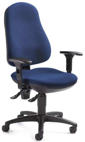 Bürodrehstuhl BASE ART 70 inkl. Armlehnen Blau   verstellbare Armlehnen