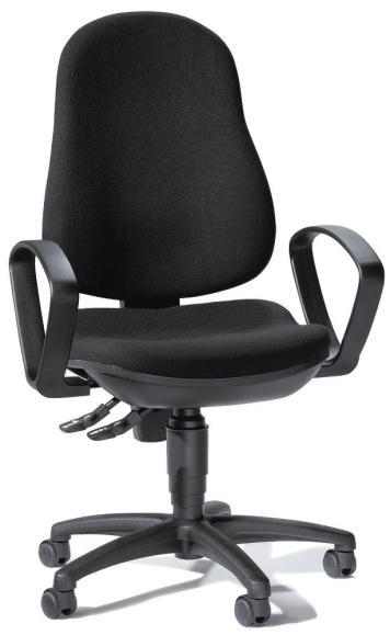 Bürodrehstuhl BASE ART 70 mit Armlehnen Schwarz | feste Armlehnen