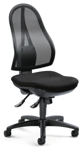 Bürodrehstuhl COMFORT NET ohne Armlehnen Schwarz | mit Synchron-Mechanik