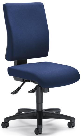 Bürodrehstuhl COMFORT R ohne Armlehnen Dunkelblau