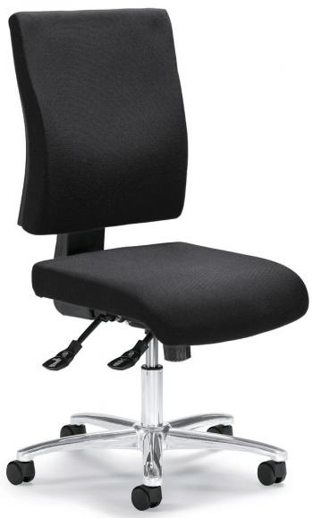 Bürodrehstuhl COMFORT R DELUXE ohne Armlehnen Anthrazit   ohne Armlehnen (optional)