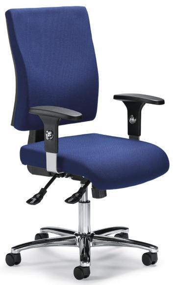 Bürodrehstuhl COMFORT R DELUXE mit Armlehnen Blau | verstellbare Armlehnen