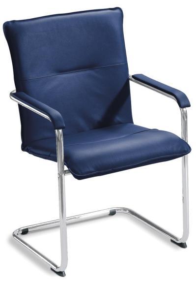 Besucherschwinger DESKIN1 mit Armlehnen Blau