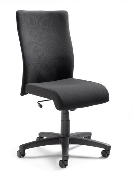 Bürodrehstuhl DV 10 ohne Armlehnen Schwarz