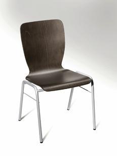 Besucherstuhl JARA Wenge | ohne Sitzpolster | Alusilber | ohne