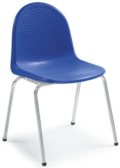 Polyamid-Schalenstühle P1 Blau | ohne Armlehnen