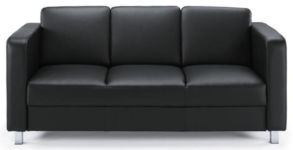 Sofa 3-Sitzer AREZZO Schwarz | 3-Sitzer