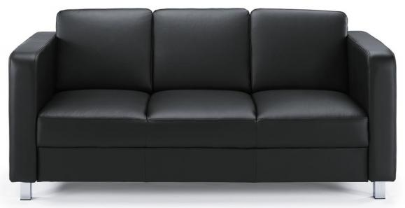 Sofa 3-zit AREZZO zwart | 3-Sitzer