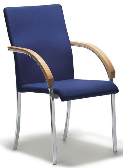 Bezoekersstoel VIRA met armleggers