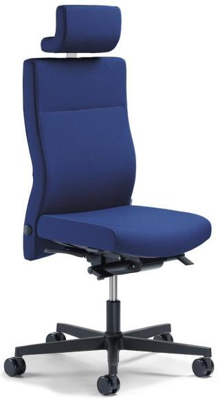 Bürodrehstuhl D001 ohne Arml. Fuß schwarz, Gewichtsautomatik