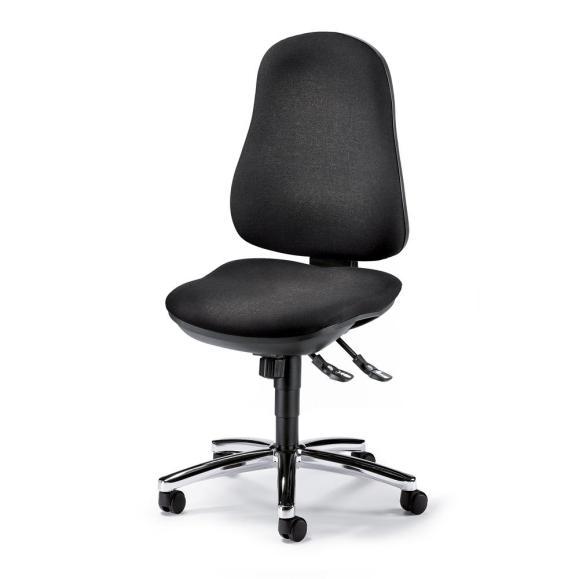 Bürodrehstuhl COMFORT I ohne Armlehnen Anthrazit | Verchromt
