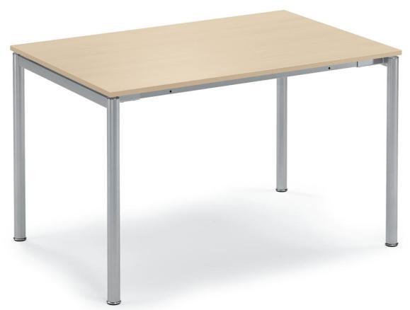 Konferenztisch DELTA-GUSTO Ahorndekor | 2000 mm | Alusilber RAL 9006