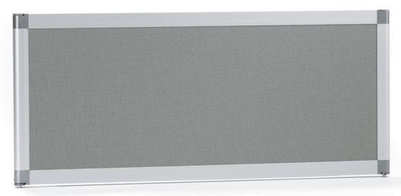 Tischtrennwand MIAMI PLUS, schallabsorbierend Grau | 800 mm