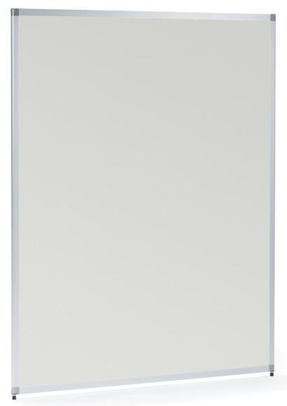 Trennwand MIAMI, Stellwand melaminbeschichtet 1210 mm   Melamindekor Lichtgrau