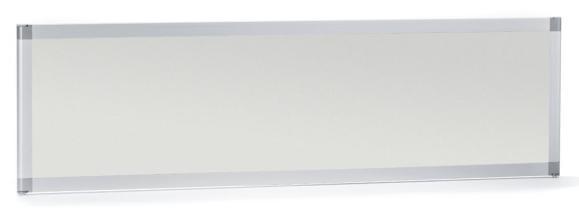 Tischtrennwand /Tischstellwand MIAMI schallabs. 1600 mm | Melamindekor Lichtgrau