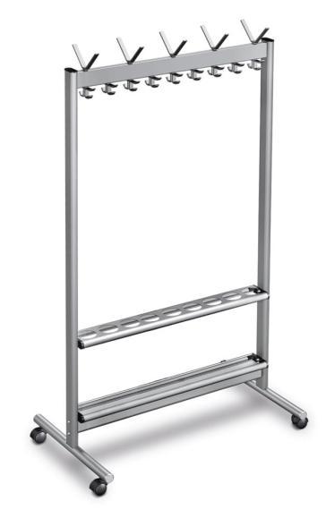 Aluminium Reihengarderobenständer V
