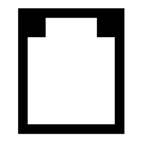 Bodenschutzmatte aus transparentem PET für Hartböden, ohne Noppen | Form U - 914 x 1219 mm
