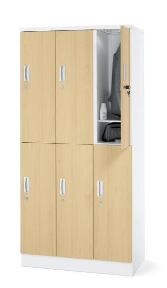 Garderobenschrank Buchedekor | 3x2 Abteile