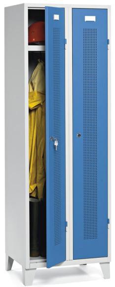 Garderoben-Stahlspind SYSTEM SP1 Lichtblau RAL 5012 | Drehriegelverschluss | 300 mm | 2 Stück