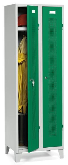 Garderoben-Stahlspind SYSTEM SP1 Verkehrsgrün RAL 6024 | 300 mm | 2 Stück | Drehriegelverschluss
