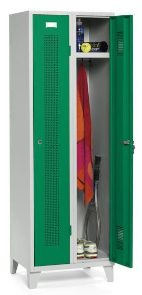 Garderoben-Stahlspind SYSTEM SP1 Verkehrsgrün RAL 6024 | Zylinderschloss | 300 mm | 2 Stück