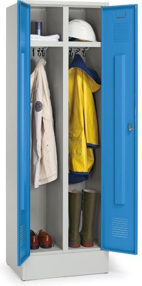 Mehrzweck-Garderoben-Stahlspind Lichtblau RAL 5012 | Arbeitsstätten-Einteilung