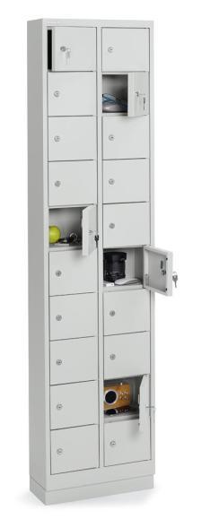Kleinfachschrank Lichtgrau RAL 7035 | 20 Stück