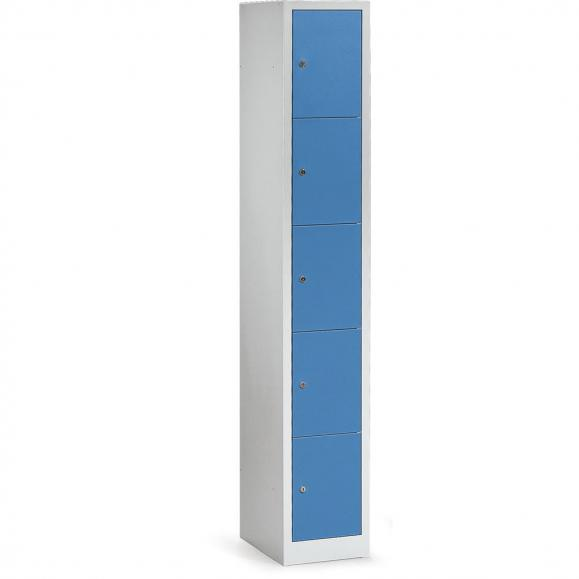 Schließfach-Stahlschrank Himmelblau RAL 5015 | 310 mm | 5 Stück