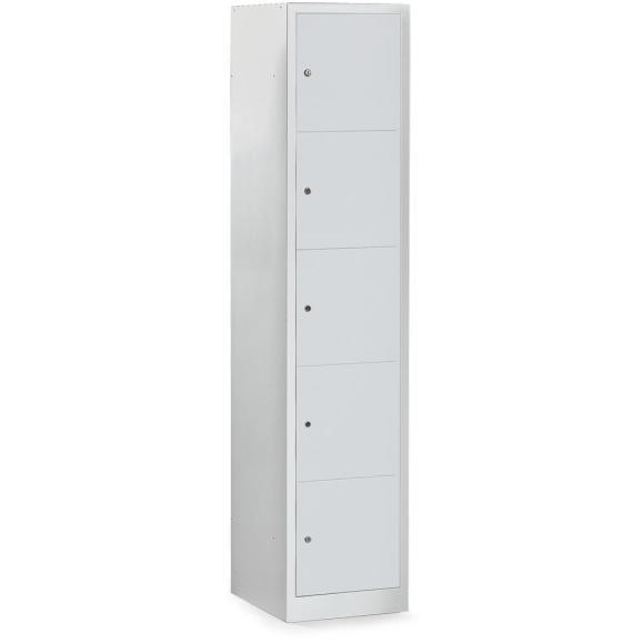 Garderoben-/Schließfachschrank SP3 Lichtgrau RAL 7035 | 415 mm | 5 Stück