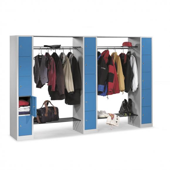 Garderoben-/Kombination SP3 Himmelblau RAL 5015 | 2930 mm