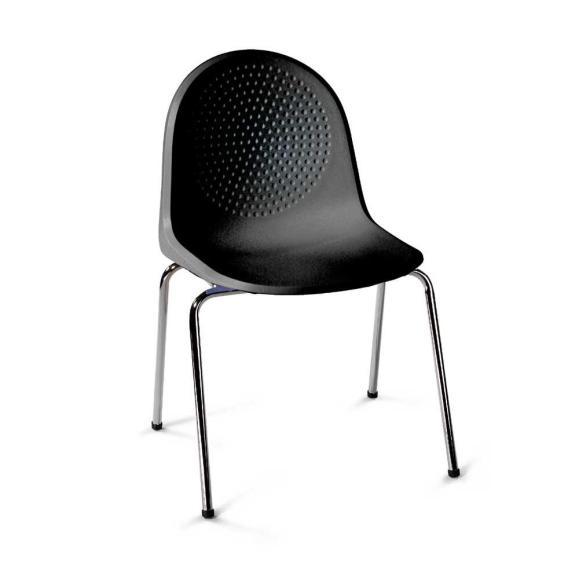 Polyamid-Schalenstühle P1 Schwarz | ohne Armlehnen