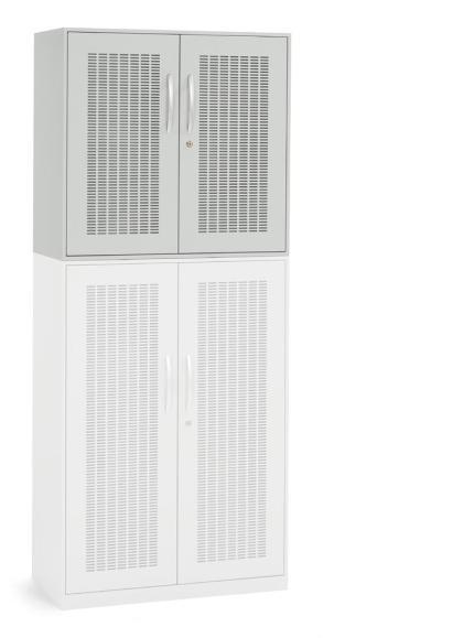Akustik-Flügeltüren-Aufsatzschränke DESKINFLEXX