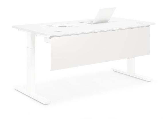 Knieraumblende 1200 PROFI Weiß RAL 9016 | für Tischbreite 1200 mm