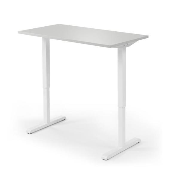Sitz-/Stehtisch MULTI M Lichtgrau | 1200 mm | Weiß