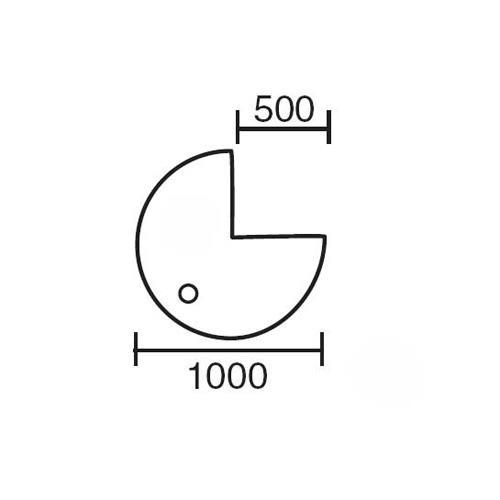 Anbauplatte MULTI M Weiß | Alusilber RAL 9006