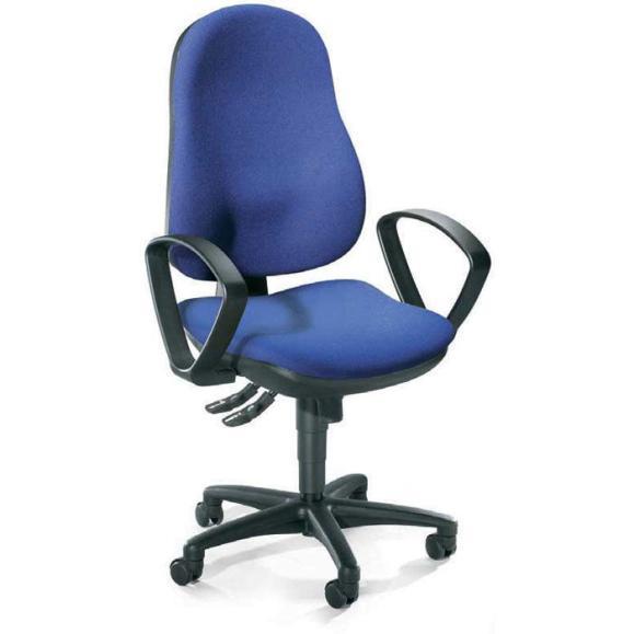 Bürodrehstuhl COMFORT I inkl. Armlehnen Blau | Polyamid schwarz