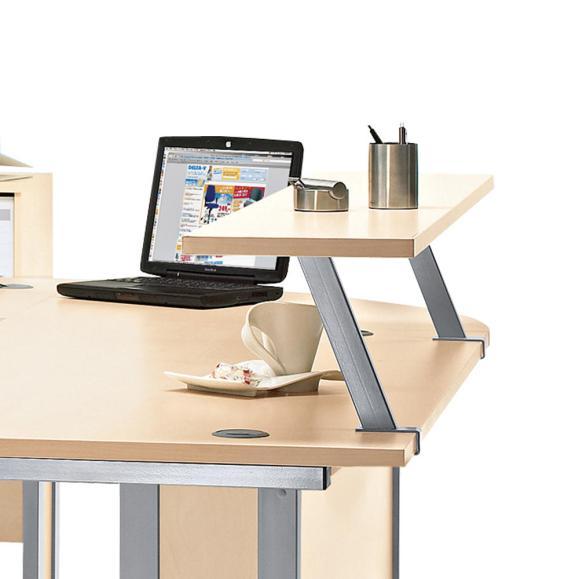 Thekenaufsatz MULTI M Ahorndekor | 1600 mm | Zweite Ebene f. Schreibtisch