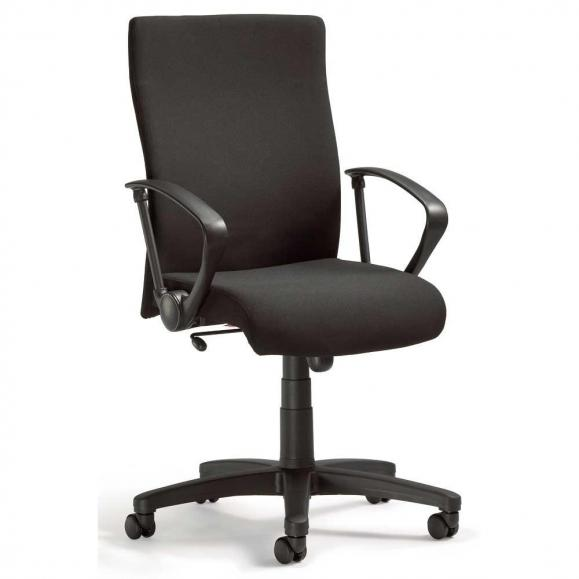 Bürodrehstuhl DV 10 inkl. Armlehnen Schwarz | Nein