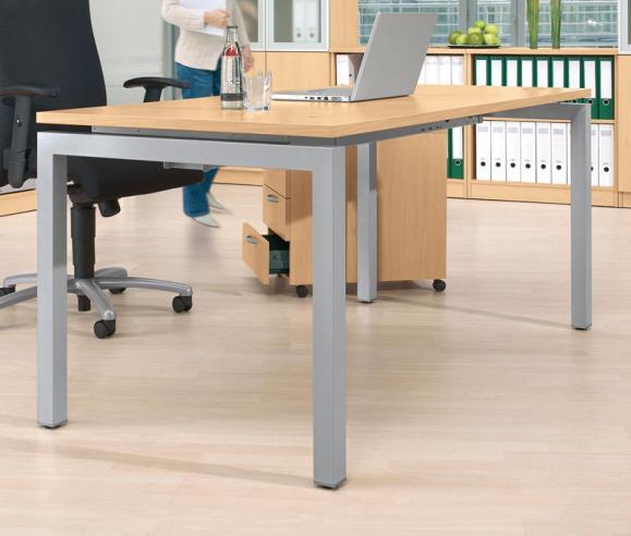 Schreibtisch 4-Fuß Basic MULTI M Buchedekor | 1600 mm