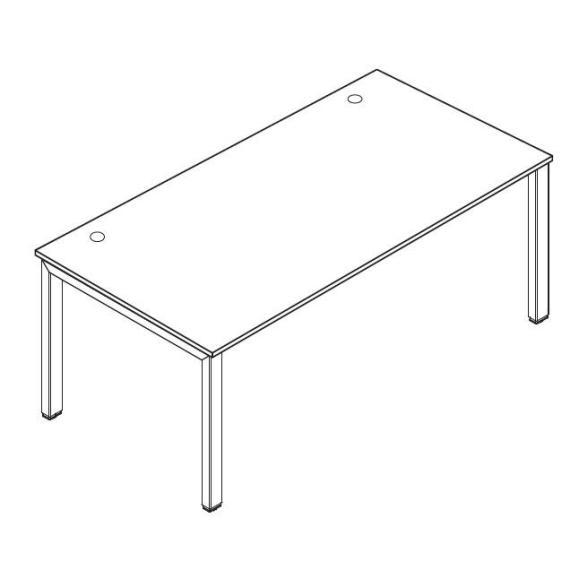 Schreibtisch 4-Fuß Comfort MULTI M Buchedekor | 1200 mm