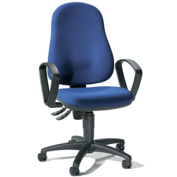 Bürodrehstuhl BASE ART 60 inkl. Armlehnen Blau | feste Armlehnen